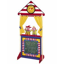 Floor Standing Puppet Theater with Clock