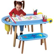 Little Hands Kids' 3 Piece Table and Bench Set