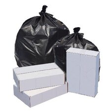 40W x 46H Repro Low-Density Can Liners 1.5 Mil in Black