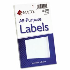 Multipurpose Self-Adhesive Removable Labels, 160/Pack (Set of 3)