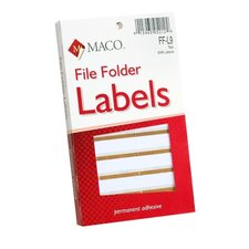 "File Folder Labels, 9/16""x3-7/16"", Tan (Set of 4)"