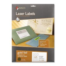 "Foil Laser Seal, 2-1/2"" Diameter, 300 per Pack, Gold"