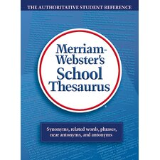 Merriam Websters School Thesaurus Book