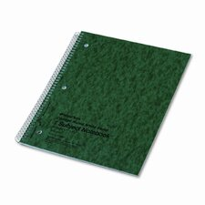 Subject Wirebound Notebook, College/Margin Rule, Ltr, WE, 80 Sheets/pad (Set of 2)