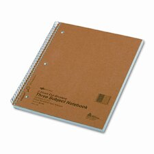 3-Subject Wire bound Notebook, 150 Sheets (Set of 2)