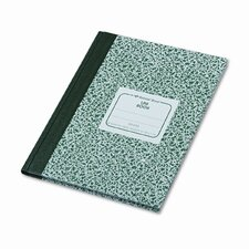 Lab Notebook, Wide Rule, 7-7/8 x 10-1/8, White, 96 Sheets/Pad