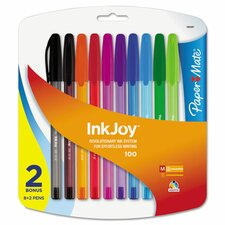 Inkjoy 100 Ballpoint Pen (8 Pack) (Set of 3)