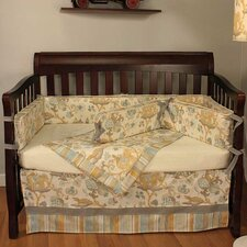 Cirque Blue 4 Piece Crib Bedding Set