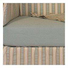 Spa Blue Crib Sheet