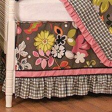 Sleek Slate Crib Dust Ruffle