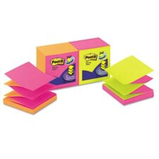 Pop-Up Refill Note Pad, 3 X 3, 12 100-Sheet Pads/Pack