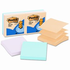Pop-Up Refill Note Pad, 6 Pack