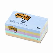 3 x 5, Five Pastel Colors, Five 100-Sheet Pads/pack