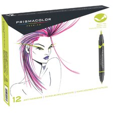 Double Ended Brush Marker (12 Pack)