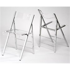 Lucite Folding Side Chair (Set of 2)