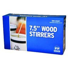 """7.5"""" Wood Coffee Stirs in Natural"""
