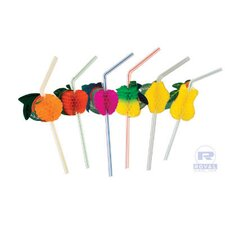 (3456 per Carton) Fruit-Ring Drinking Straws in Assorted
