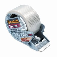 "Extreme Application Packaging Tape & Dispenser, 2"" x 21 Yards, 3"" Core"