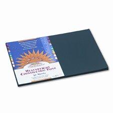 SunWorks Construction Paper, Heavyweight, 12 x 18, Black, 50 Sheets (Set of 2)