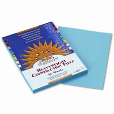 SunWorks Construction Paper, Heavyweight, 9 x 12, Sky Blue, 50 Sheets (Set of 4)
