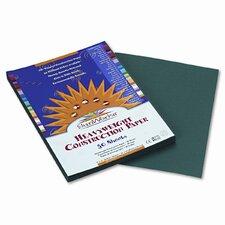 SunWorks Construction Paper, Heavyweight, 9 x 12, Dark Green, 50 Sheets (Set of 4)