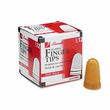 Rubber Finger Tips (Pack of 12) (Set of 3)