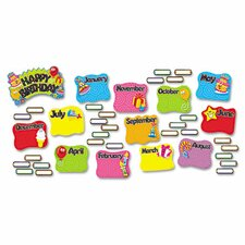 47 Piece Happy Birthday Mini Bulletin Board Cut Out Set