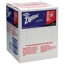 "7"" x 8"" Double Zipper Food Bags in Clear"