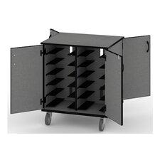 12-Compartment Laptop Storage Cart