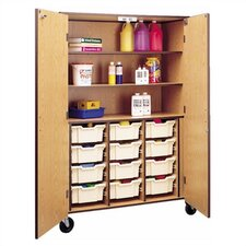 "72"" H Storage Cabinet with 3 Shelves and Optional Trays"