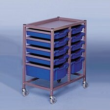"Double Column Mobile 33.5"" Storage Cart"