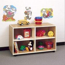 Koala-Tee Mobile Four Cubby Storage Shelves