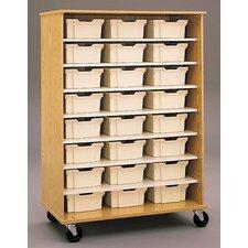 """Encore 68"""" Double Sided Shelf Cabinet"""
