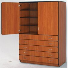 """Illusions 84"""" Shelf and Drawer Cabinet with Four Adjustable Shelves"""
