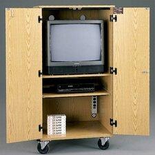 Mobile TV / VCR Multimedia Cabinet