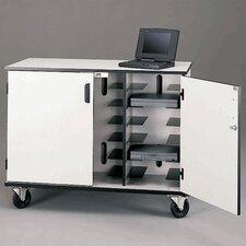 15-Compartment Laptop Storage Cart
