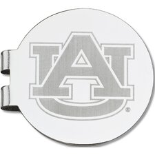 NCAA Laser Etched Silver Plated Money Clip