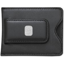 NCAA Logo Black Leather Money Clip / Credit Card / ID Holder