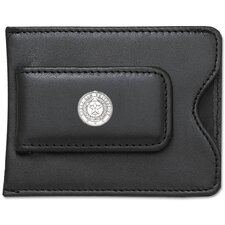 NCAA Logo Black Leather Money Clip / Credit Card Holder