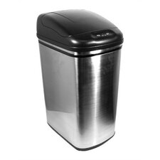 11.8 Gallon Stainless Steel Infrared Trash Can