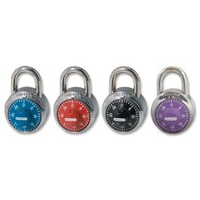 "Combination Lock, 1-7/8"" W Body, Assorted Dials"