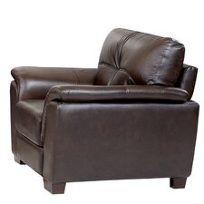 Belize Top Grain Brown Leather Armchair