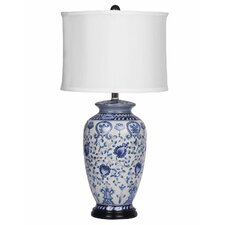 "Asian 28"" H Table Lamp with Drum Shade"