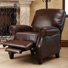 Cliff Push Back Leather Recliner