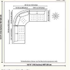 Empire Symmetrical Sectional