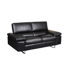 Fiona Leather Loveseat