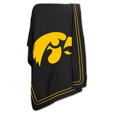 NCAA University of Iowa Classic Fleece Throw