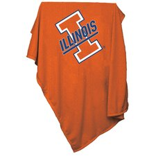 NCAA Illinois Sweatshirt Blanket