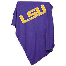 NCAA LSU Sweatshirt Blanket