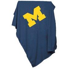 NCAA Michigan Sweatshirt Blanket